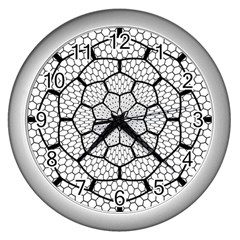 Grillage Wall Clocks (silver)  by Simbadda