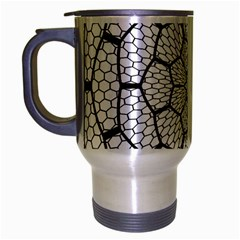 Grillage Travel Mug (silver Gray) by Simbadda