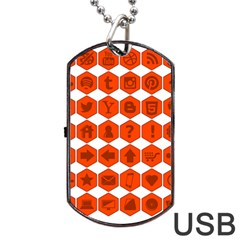 Icon Library Web Icons Internet Social Networks Dog Tag Usb Flash (one Side) by Simbadda