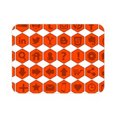 Icon Library Web Icons Internet Social Networks Double Sided Flano Blanket (mini)  by Simbadda