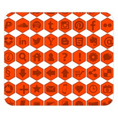 Icon Library Web Icons Internet Social Networks Double Sided Flano Blanket (small)  by Simbadda