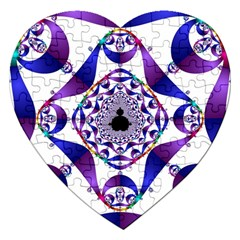 Ring Segments Jigsaw Puzzle (heart) by Simbadda