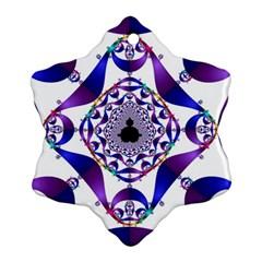 Ring Segments Snowflake Ornament (two Sides) by Simbadda
