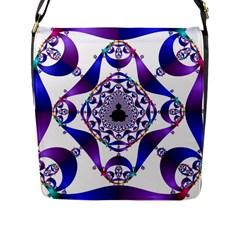 Ring Segments Flap Messenger Bag (l)  by Simbadda