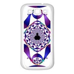Ring Segments Samsung Galaxy S3 Back Case (white) by Simbadda