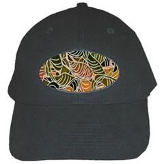 Floral Pattern Background Black Cap by Simbadda