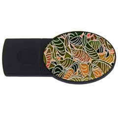 Floral Pattern Background Usb Flash Drive Oval (2 Gb) by Simbadda