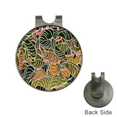 Floral Pattern Background Hat Clips With Golf Markers by Simbadda