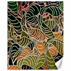 Floral Pattern Background Canvas 16  X 20   by Simbadda