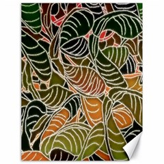 Floral Pattern Background Canvas 18  X 24   by Simbadda