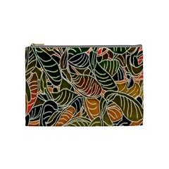 Floral Pattern Background Cosmetic Bag (medium)  by Simbadda