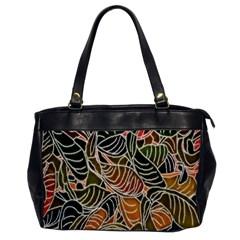 Floral Pattern Background Office Handbags by Simbadda