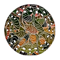 Floral Pattern Background Ornament (round Filigree) by Simbadda