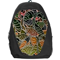 Floral Pattern Background Backpack Bag by Simbadda