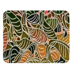 Floral Pattern Background Double Sided Flano Blanket (large)  by Simbadda