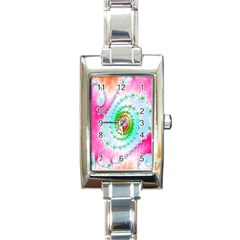 Decorative Fractal Spiral Rectangle Italian Charm Watch by Simbadda