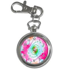 Decorative Fractal Spiral Key Chain Watches by Simbadda