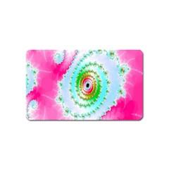 Decorative Fractal Spiral Magnet (name Card) by Simbadda