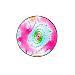 Decorative Fractal Spiral Hat Clip Ball Marker (4 Pack) by Simbadda
