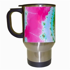 Decorative Fractal Spiral Travel Mugs (white) by Simbadda