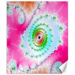 Decorative Fractal Spiral Canvas 20  X 24   by Simbadda
