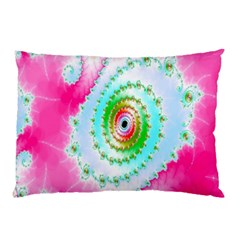 Decorative Fractal Spiral Pillow Case by Simbadda