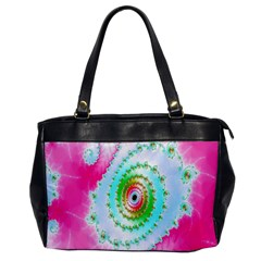 Decorative Fractal Spiral Office Handbags by Simbadda