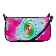 Decorative Fractal Spiral Shoulder Clutch Bags by Simbadda