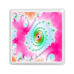 Decorative Fractal Spiral Memory Card Reader (square)  by Simbadda