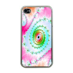Decorative Fractal Spiral Apple Iphone 4 Case (clear) by Simbadda
