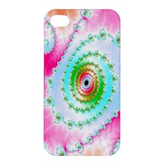 Decorative Fractal Spiral Apple Iphone 4/4s Hardshell Case by Simbadda