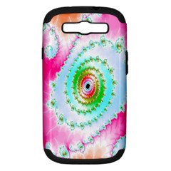 Decorative Fractal Spiral Samsung Galaxy S Iii Hardshell Case (pc+silicone) by Simbadda