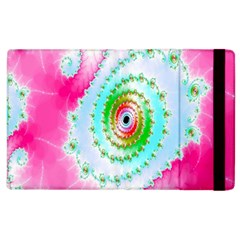 Decorative Fractal Spiral Apple Ipad 3/4 Flip Case by Simbadda