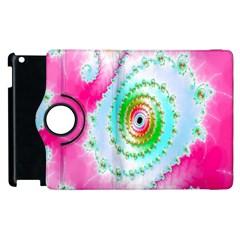 Decorative Fractal Spiral Apple Ipad 3/4 Flip 360 Case by Simbadda
