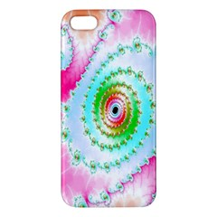 Decorative Fractal Spiral Apple Iphone 5 Premium Hardshell Case by Simbadda