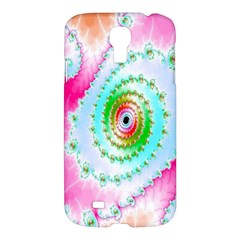 Decorative Fractal Spiral Samsung Galaxy S4 I9500/i9505 Hardshell Case by Simbadda