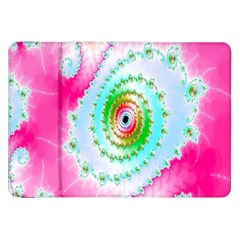 Decorative Fractal Spiral Samsung Galaxy Tab 8 9  P7300 Flip Case by Simbadda