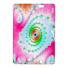 Decorative Fractal Spiral Kindle Fire Hdx 8 9  Hardshell Case by Simbadda