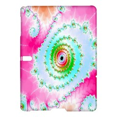 Decorative Fractal Spiral Samsung Galaxy Tab S (10 5 ) Hardshell Case  by Simbadda