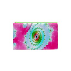 Decorative Fractal Spiral Cosmetic Bag (xs) by Simbadda
