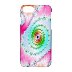 Decorative Fractal Spiral Apple Iphone 7 Hardshell Case by Simbadda