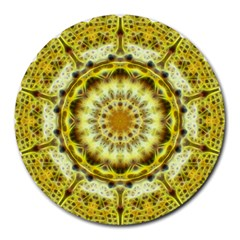 Fractal Flower Round Mousepads by Simbadda
