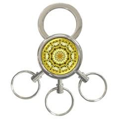 Fractal Flower 3 Ring Key Chains by Simbadda