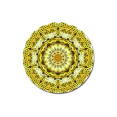 Fractal Flower Magnet 3  (round) by Simbadda
