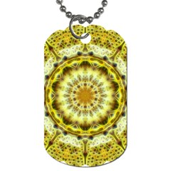Fractal Flower Dog Tag (two Sides) by Simbadda