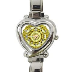 Fractal Flower Heart Italian Charm Watch by Simbadda