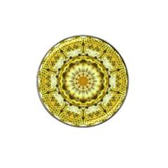 Fractal Flower Hat Clip Ball Marker (4 Pack) by Simbadda