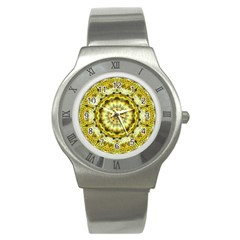 Fractal Flower Stainless Steel Watch by Simbadda