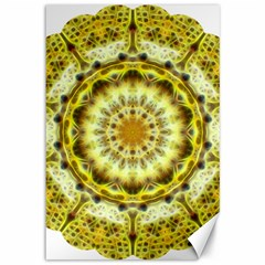 Fractal Flower Canvas 12  X 18   by Simbadda