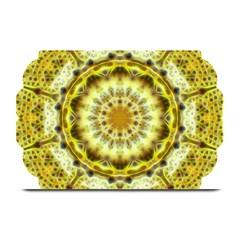 Fractal Flower Plate Mats by Simbadda